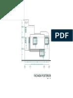 3.- Casa habitacion 10.5 x 12 M-Modelo fachada posterior