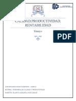 ENSAYO CALIDAD Y PRODUCTIVIDAD