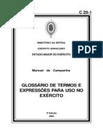 C 20-1 - Glossario de Termos e Expressoes Militares