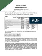 Financial management case study