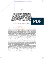 Palazzi - Torralba - Decision-making in organisations, according to the Aristotelian model