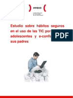 Estudio sobre hábitos seguros en el uso de las TIC por niños y adolescentes y e-confianza de sus padres
