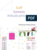 Staff Sumario y Articulo Principal