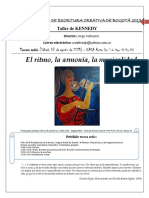 III sesión - Métrica, ritmo, armonía - Taller de Escritura de Kennedy 2019 - 3 de agosto