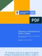 Presentación_pasos para diligenciar formato ùnico de declaraciòn Bienes y Rentas.pptx