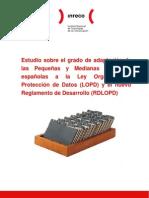 Estudio sobre el grado de adaptación de las Pequeñas y Medianas Empresas españolas a la Ley Orgánica de Protección de Datos (LOPD) y el nuevo Reglamento de Desarrollo (RDLOPD)