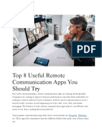 Top 8 Useful Remote Communication Apps You Should Try