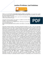 Partnership Formation Problems And Solutions.pdf