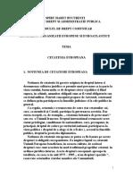 CETATENIA EUROPEANA -ORGANIZATII EUROPENE SI EUROATLANTICE