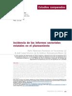 Incidencia Informes Sectoriales CyTeT n 200 Verano 2019