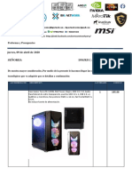 PROFORMA CASSE G  09 04 20
