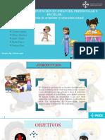 Fomento y prevención de accidentes y educación sexual en infantes, preescolares y escolares