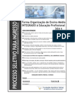 Prova da escola Cícero Dias Recife/PE 2011