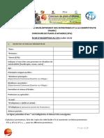 Fiche d'inscription au CPA - Juillet 2020 vf