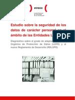 Estudio sobre la seguridad de los datos de carácter personal en el ámbito de las Entidades Locales españolas