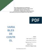 variables de control