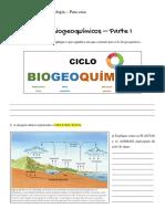Ciclos Biogeoquímicos I - Ciclo da Água e Ciclo do Carbono