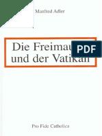 Adler, Manfred - Die Freimaurer Und Der Vatikan