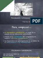 Psicología Diferencial clase 1
