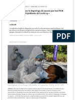 «Il faut organiser le dépistage de masse par test PCR pour maîtriser l'épidémie de Covid-19»