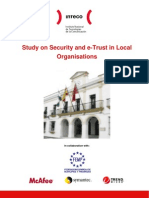 Study on Security and e-Trust in Local Organisations