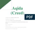 Aqida (Creed) al-Tahawi