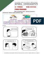 2°GRAMÁTICA ADJETIVOS DETERMINATIVOS POSESIVOS Y NUMERALES (1)