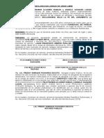 DECLARACION JURADA DE UNION LIBRE nueva