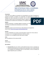 PROGRAMA DIPLOMADO - ESTRATEGIAS PARA LA ENSEÑANZA DE LAS MATEMÁTICAS