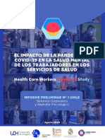 Primer Informe the Covid 19 Health Care Workers Study