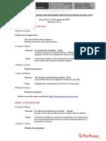Programa del Congreso Internacional de Defensores Públicos de Asistencia Legal 2020