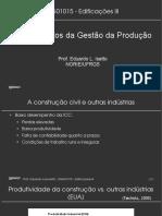 Disciplina de Edificações III UFRGS - Fundamentos da Gestão da Produção
