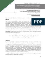 ensiegnement du francais dans l'espace unviersitarire en Colombie (1).pdf