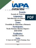 PORTAFOLIO EDUCACION A DISTANCIA NICOL