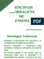 SLIDES PRINCIPAIS ABORDAGENS 3