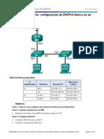 Taller Configuracion Basica DHCPv4 en un Switch