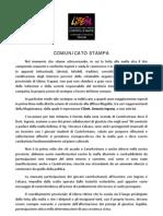 LIBERA - COMUNICATO STAMPA - INGROIA CALCARA
