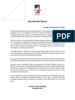 DECLARACIÓN PÚBLICA MARCELO CARRASCO