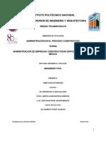Administración de empresas constructoras enfocado a Pymes en México