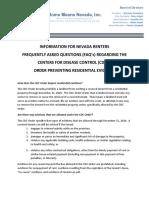 CDC Eviction FAQ's