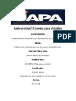 Tarea 8 Fundamentos Filosóficos e Históricos  de la Educación.docx