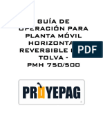 GUIA DE OPERACION PMH 750-500 PROYEPAG