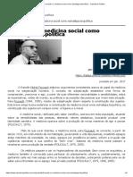 ARTIGO - Foucault e a Medicina Social Como Estratégia Biopolítica