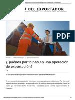 ¿Quiénes participan en una operación de exportación_ _ DIARIO DEL EXPORTADOR
