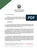 R. M. N° 301-2020-PRODUCE