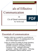 Essentials of Effective Communication