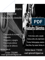 Afiches Clases de Guitarra Horizontal
