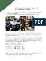 CAUSAS DE ACCIDENTES DE TRANSITO
