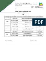 JADUAL ujian bulan ogos  TAHUN tahap 2 2019