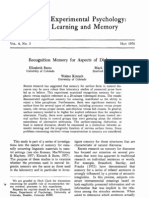 Bates, kintsch Recognition memory for aspects for dialogue 1978